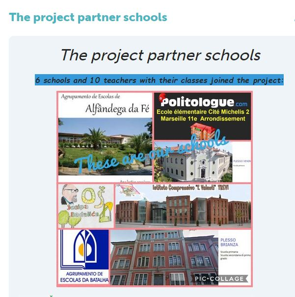 The project partners' schools