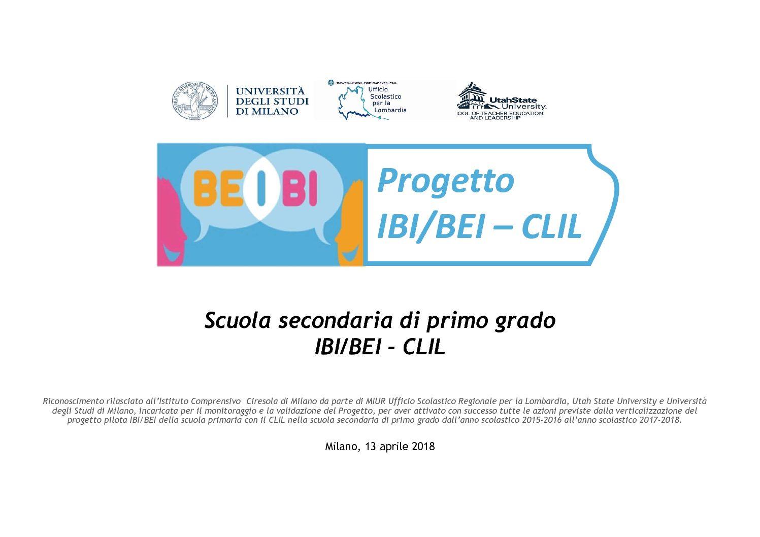 Evento BEI - CLIL