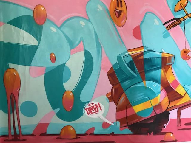 Graffito regalato da ARSEK and ERASE al plesso di via Venini 80